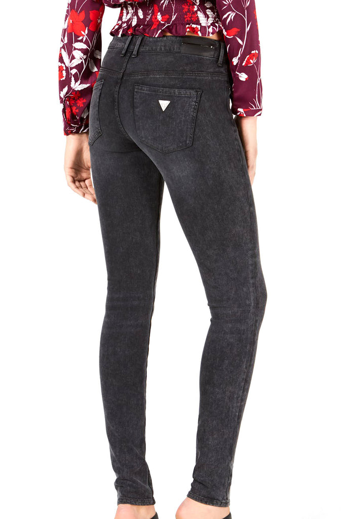 Yieldings Discount Clothing Store's Ultra Skinny Low Jegging Hosiery Denim by Guess in Black