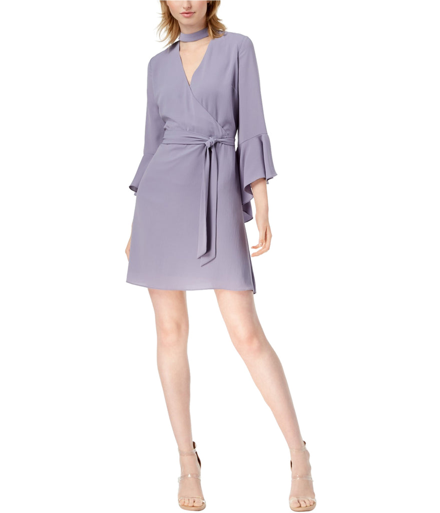 Yieldings Discount Clothing Store's Bell-Sleeve a-line Dress by Bar III in Silver Bullet