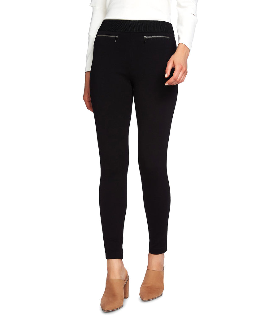 Yieldings Discount Clothing Store's Zip Pocket Ponte Leggings by 1.State in Rich Black