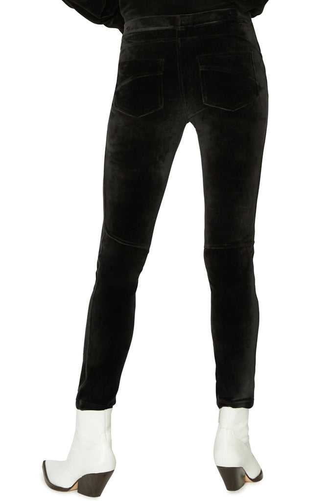 Yieldings Discount Clothing Store's Velour Grease Leggings by Sanctuary in Black