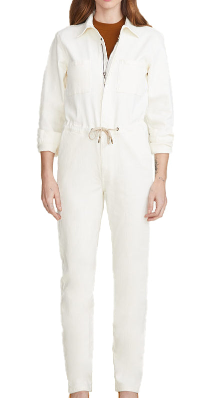 Yieldings Discount Clothing Store's MAD - Boiler Suit by Warp + Weft in Parchment