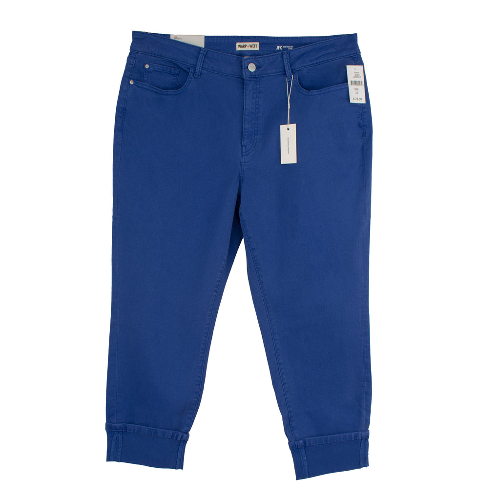 Yieldings Discount Clothing Store's JFK - Capris by Warp + Weft in Lapis Blue