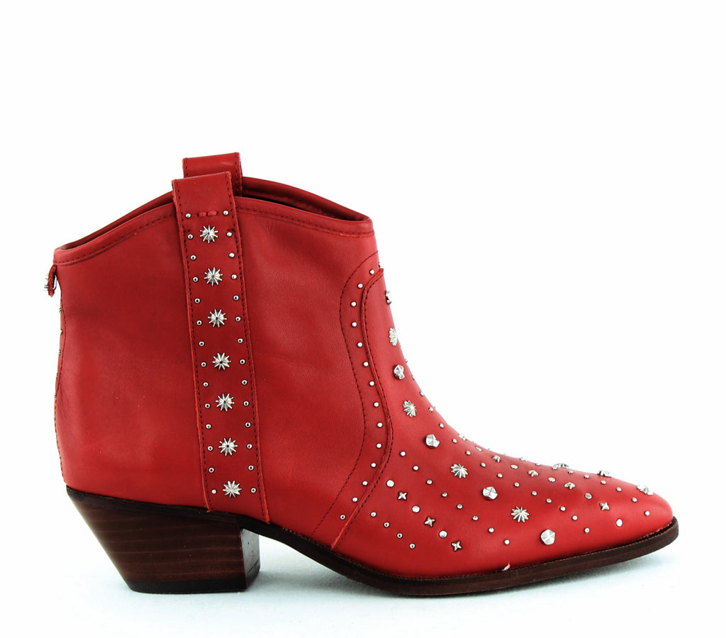 Yieldings Discount Shoes Store's Brian Leather Boots by Sam Edelman in Red