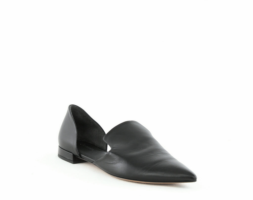 Yieldings Discount Shoes Store's Damris Leather Loafers by Vince in Black