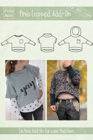 Ebook Pinio Cropped Add-On Schnittmuster Crop Shirt