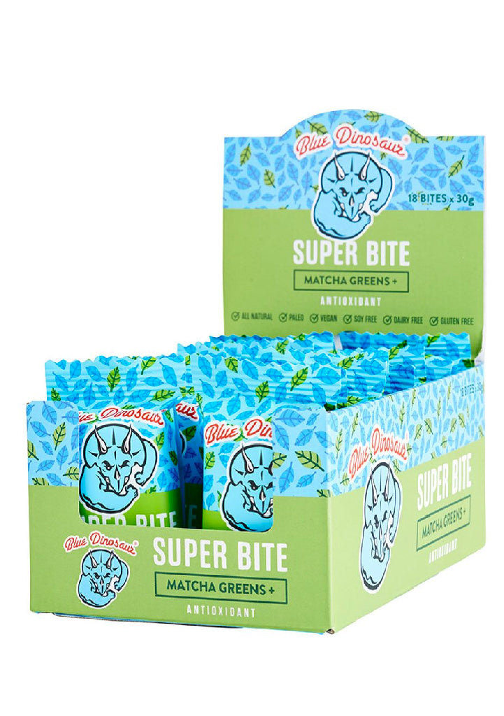 Blue Dinosaur Super Bite Matcha Greens 18 Pack