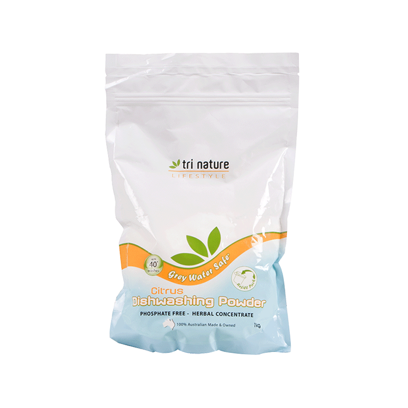 Tri Nature Dishwashing Powder Natural Plant Based Eco Home Cleaner Friendly BuyNatural