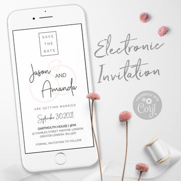 Minimal Electronic Save the Date