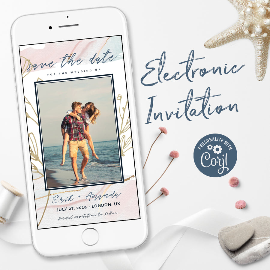 Photo Save the Date Digital Invitations