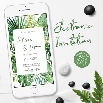 Tropical Theme Electronic Save the Date