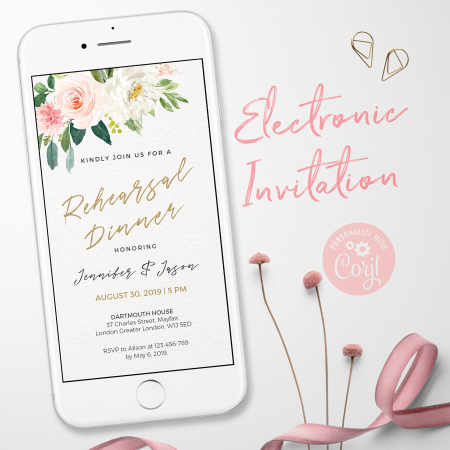 Wedding Rehearsal Dinner Electronic Invitations
