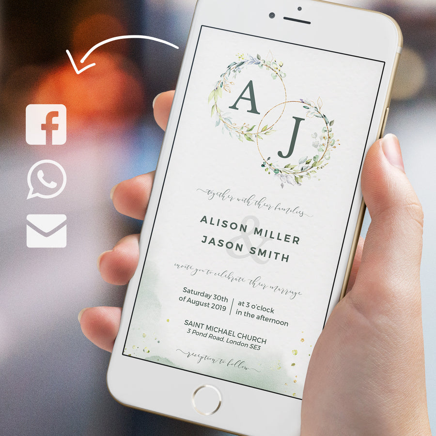 Rustic Electronic Wedding Invitations