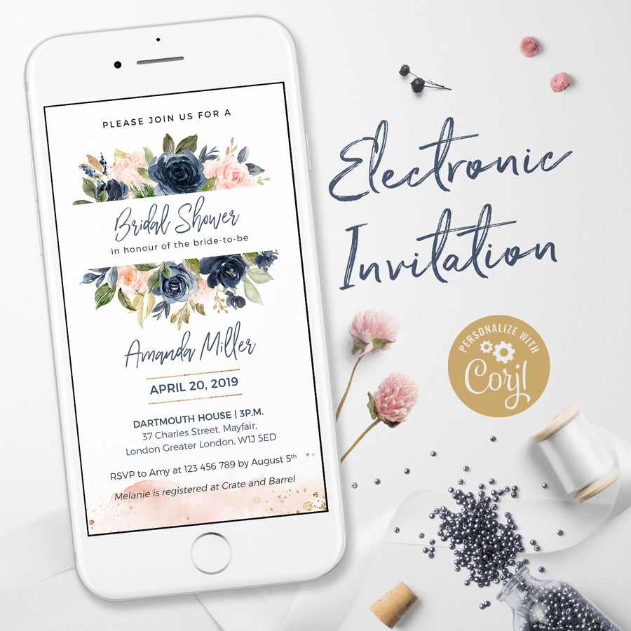 Bridal Shower Invitations Electronic Invitations