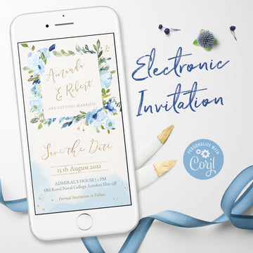 Light Blue Electronic Save the Date