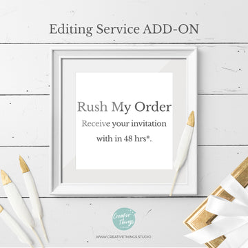 Rush My Order - 2 Days Delivery Time