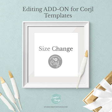 Size Change *Add-On* for Corjl Template