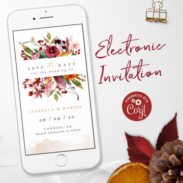Autumn Wedding Save the Date Evite
