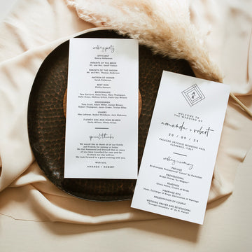 Giulia | Minimalist Wedding Program Template