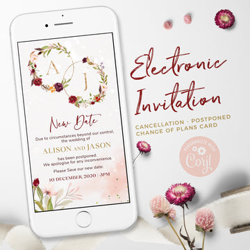 Save the New Date electronic invitation