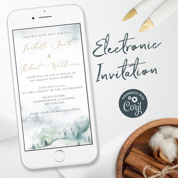 Mountains Themed Wedding Invitation Evite
