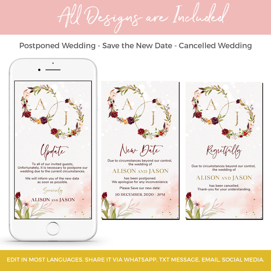 Rosita | Marsala Blush Save the New Date Electronic Invitation