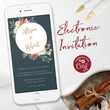 Christmas Wedding Invitation Evite