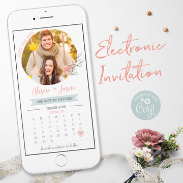 Photo Save the Date with Calendar Evite