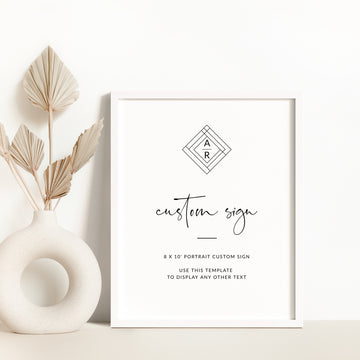 Giulia | Custom Wedding Sign Template