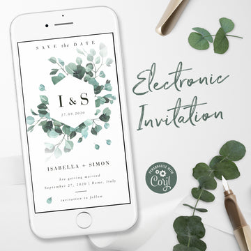 Eucalyptus Electronic Save the Date