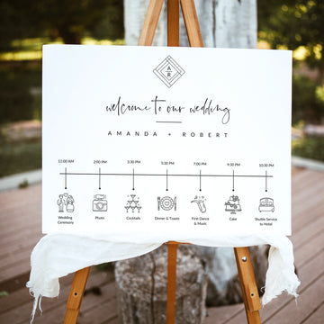Giulia | Wedding Day Timeline Sign