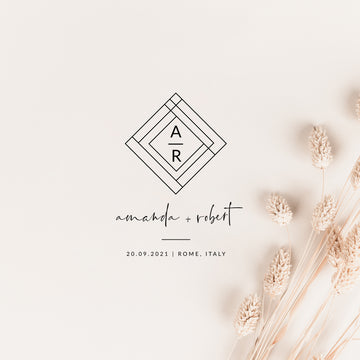 Giulia | Modern Geometric Wedding Logo Design