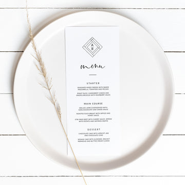 Giulia | Wedding Menu Card Template