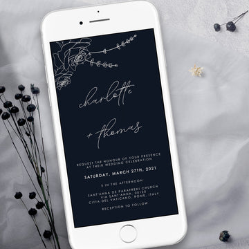 Rosa | Minimalist Electronic Wedding Invitation