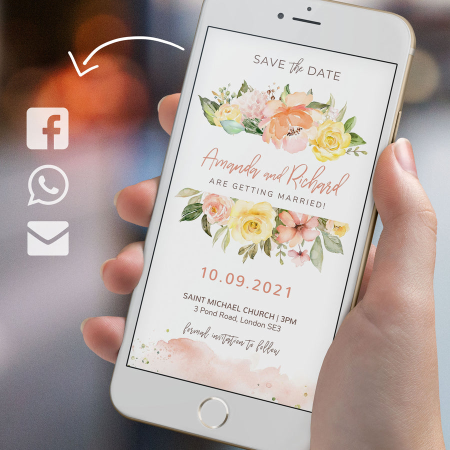 Summer Wedding Electronic Save the Date