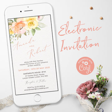 Summer Wedding Invitation Electronic Invite