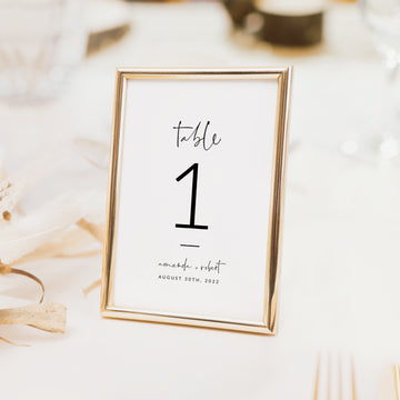 Giulia | Minimalist Table numbers Wedding Template