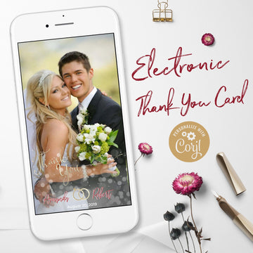Electronic Wedding Thank You Notes with Photo