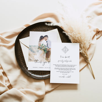 Giulia | wedding thank you card with photo