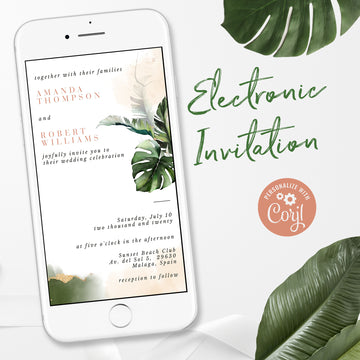 Tropical Electronic Wedding Invitation
