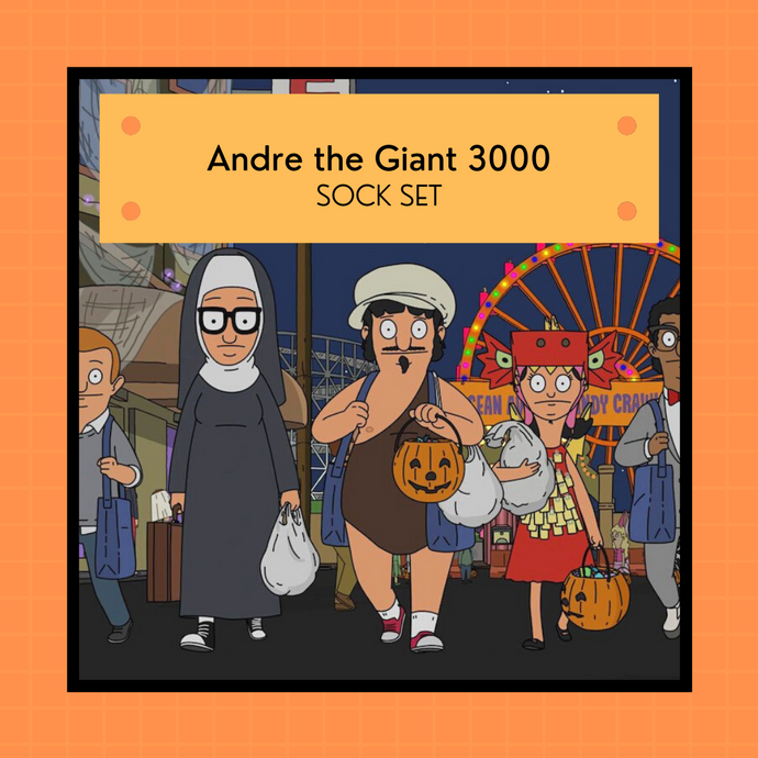 PREORDER: Bob's Burgers Halloween 2021 - Andre the Giant 3000 | 4-ply sock set