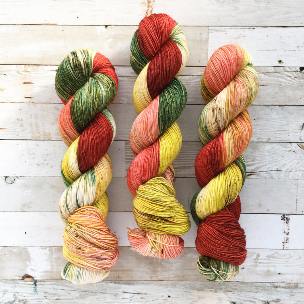 holly berries | 4-ply sock