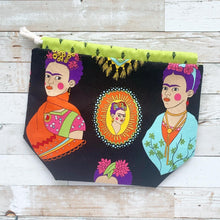 Load image into Gallery viewer, frida kahlo | small drawstring project bag