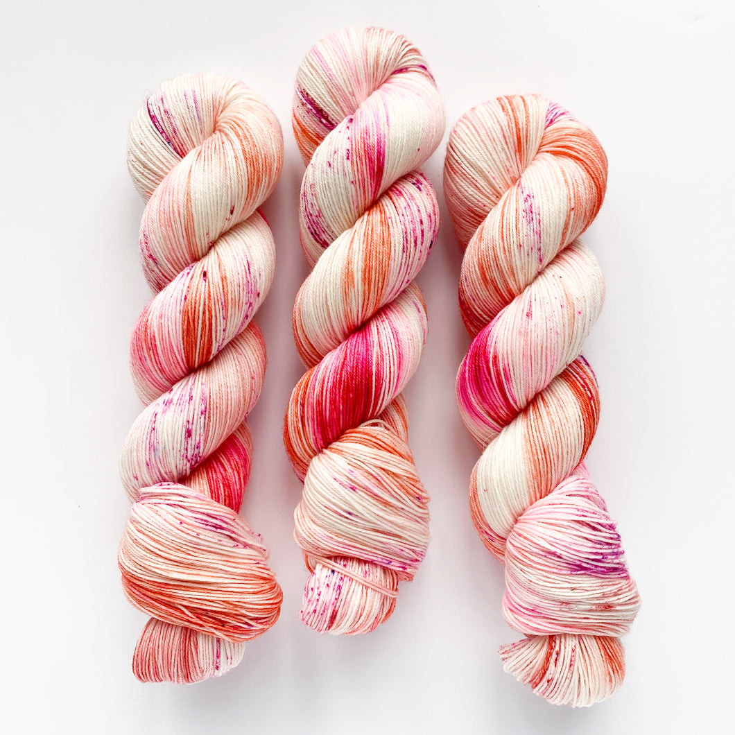 peachy perennial | 4-ply sock