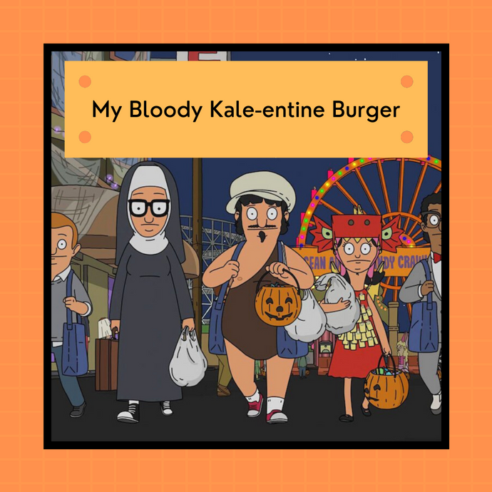 PREORDER: Bob's Burgers Halloween 2021 - My Bloody Kale-entine Burger  | 4-ply sock
