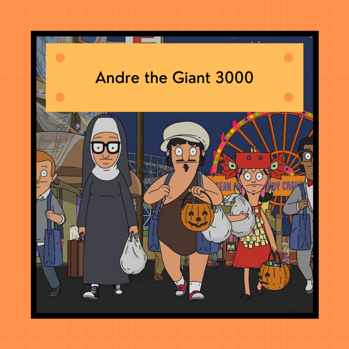 PREORDER: Bob's Burgers Halloween 2021 - Andre the Giant 3000  | 4-ply sock