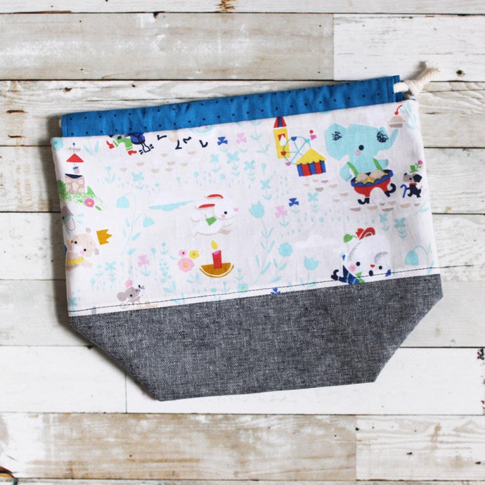 nursery rhymes | small drawstring project bag