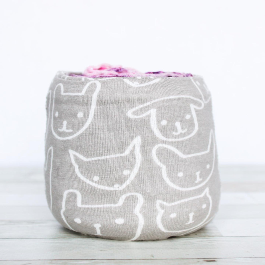 animal drawings on grey | sheep squeezer by one sock wonder