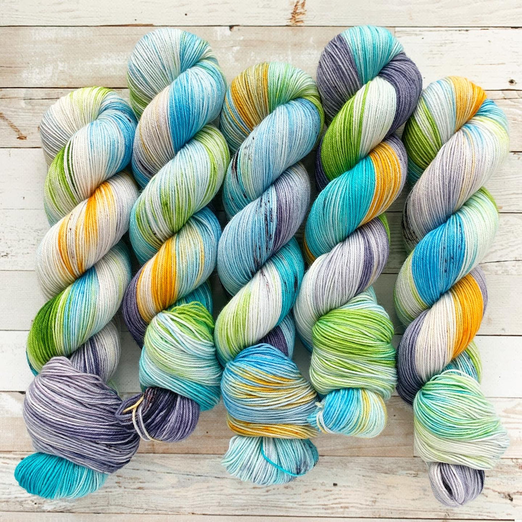 wistful wildflowers | 4-ply sock