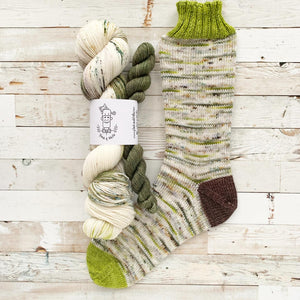 dad's BDUs w/ a camouflaged mini | 4-ply sock set