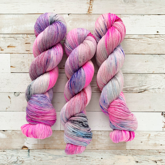 that one time in 2020 (pink leaning) | 4-ply sock